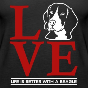 Love Beagle Shirt - Women's Premium Tank Top