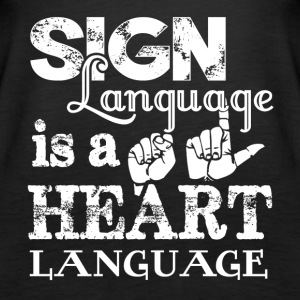 New Sign Language Shirt - Women's Premium Tank Top