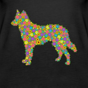 German Shepherd Flower Shirt - Women's Premium Tank Top
