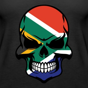 South African Flag Skull Cool South Africa Skull - Women's Premium Tank Top