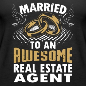 Married To An Awesome Real Estate Agent - Women's Premium Tank Top