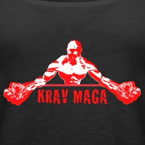 Krav Maga Fists (red and white) - Women's Premium Tank Top