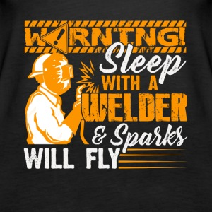 Warning Sleep With A Welder Tee Shirt - Women's Premium Tank Top