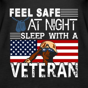 Feel Safe At Night Sleep With A Veteran Shirt - Women's Premium Tank Top
