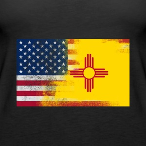 New Mexico American Flag Fusion - Women's Premium Tank Top