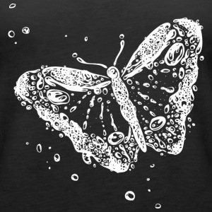 Water splash, butterfly and water drops. - Women's Premium Tank Top