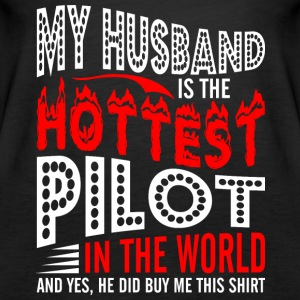 My Husband Is The Hottest Pilot - Women's Premium Tank Top
