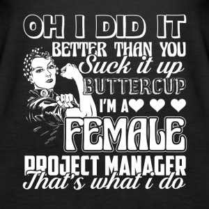 Female Project Manager Tee Shirt - Women's Premium Tank Top