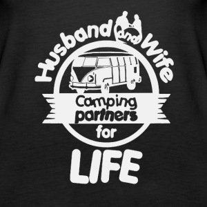 Husband And Wife Camping Partners Shirt - Women's Premium Tank Top