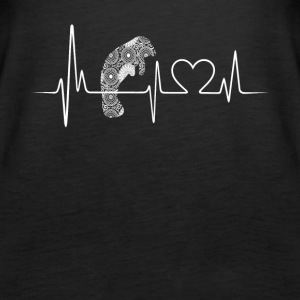 manatee heartbeat shirt - Women's Premium Tank Top