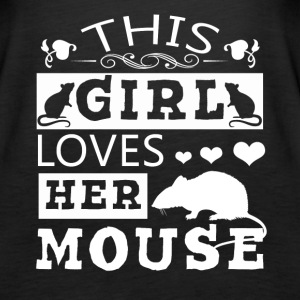 This Girl Loves Her Mouse Shirt - Women's Premium Tank Top