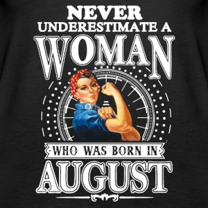 WOMAN BORN IN AUGUST SHIRT - Women's Premium Tank Top