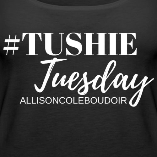Tushie Tuesday White - Women's Premium Tank Top