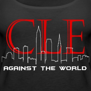 Cleveland Against the World Cityscape - Women's Premium Tank Top