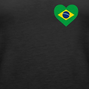 Brazil Flag Shirt Heart - Brazilian Shirt - Women's Premium Tank Top