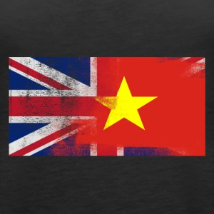 British Vietnamese Half Vietnam Half UK Flag - Women's Premium Tank Top