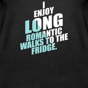 Romantic Walks To The Fridge - Women's Premium Tank Top