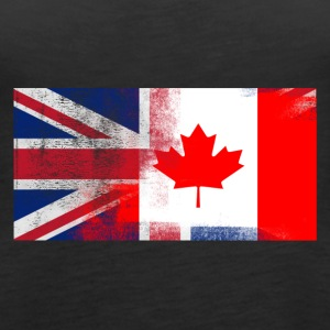 British Canadian Half Canada Half UK Flag - Women's Premium Tank Top