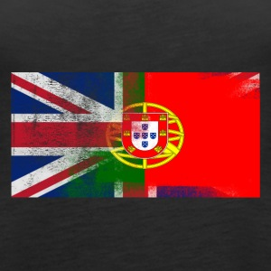 British Portuguese Half Portugal Half UK Flag - Women's Premium Tank Top