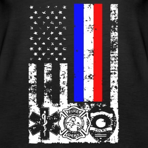EMT First Responder Flag Tee Shirt - Women's Premium Tank Top