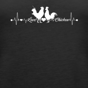 Chicken Heartbeat Shirt - Women's Premium Tank Top