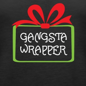 Gangsta Wrapper Funny Holiday Christmas Gift Tshir - Women's Premium Tank Top
