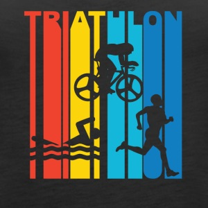 Vintage Triathlon Graphic - Women's Premium Tank Top