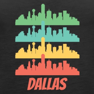 Retro Dallas TX Skyline Pop Art - Women's Premium Tank Top