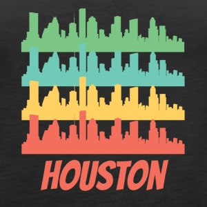 Retro Houston TX Skyline Pop Art - Women's Premium Tank Top