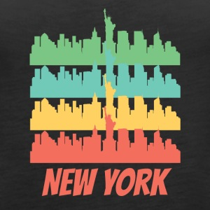 Retro New York City Skyline Pop Art - Women's Premium Tank Top