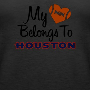 My heart belongs to Houston - Women's Premium Tank Top