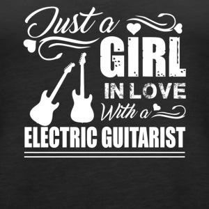 Girl In Love With Electric Guitarist Shirt - Women's Premium Tank Top