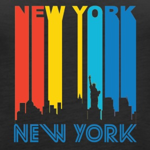 Retro New York Skyline - Women's Premium Tank Top