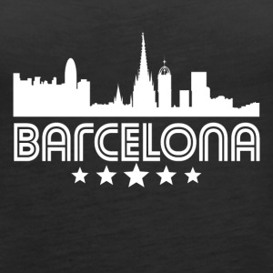 Retro Barcelona Skyline - Women's Premium Tank Top