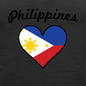 Philippines Flag Heart - Women's Premium Tank Top