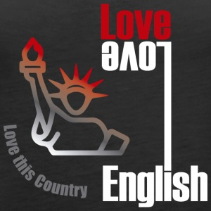 Love English, love USA - Women's Premium Tank Top