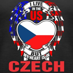 I Live In The Us But My Heart Is In Czech - Women's Premium Tank Top