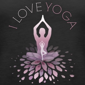 yoga yoga namaste shiva woman fun buddha gym om lo - Women's Premium Tank Top
