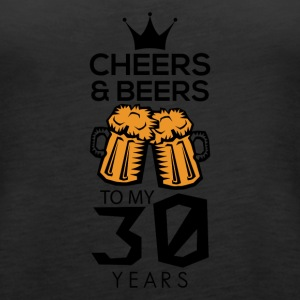 Cheers Beers To My Thirty Years Tee Shirt - Women's Premium Tank Top