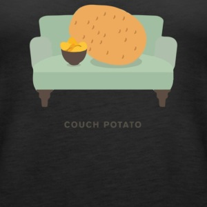 Couch Potato Pun - Women's Premium Tank Top