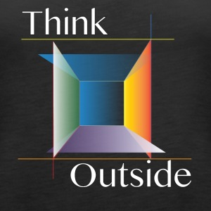 Think Outside the Box - Women's Premium Tank Top
