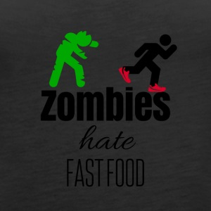 Zombies and fast food - Women's Premium Tank Top