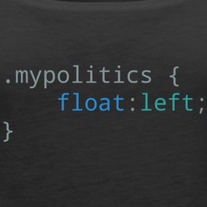 My Politics Float Left - Women's Premium Tank Top