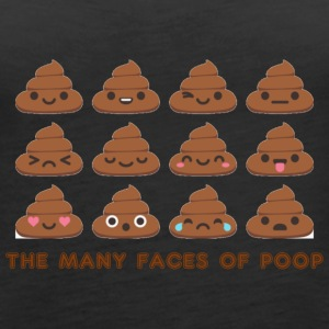 the many faces of poop - Women's Premium Tank Top