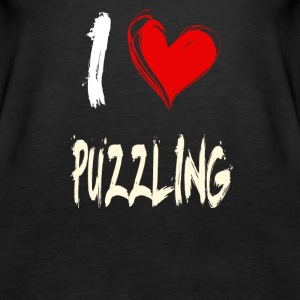 I love PUZZLING - Women's Premium Tank Top