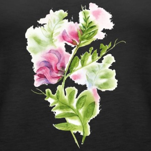 Flower plant watercolor vector picture drawing art - Women's Premium Tank Top