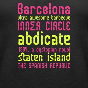 Barcelona ultra awesome barbecue - Women's Premium Tank Top
