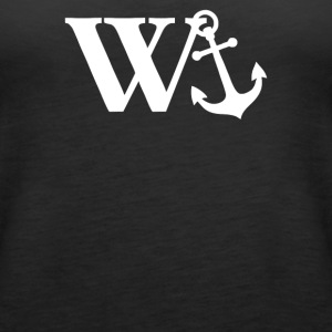 W Anchor Mens Funny Offensive - Women's Premium Tank Top