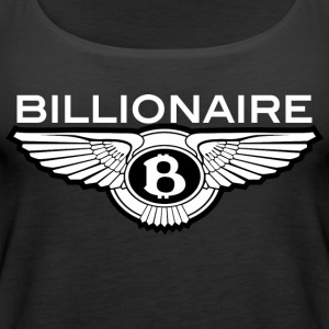 Billionaire - Wings Design (White Letters/Black) - Women's Premium Tank Top
