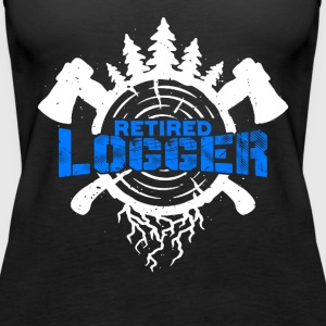 RETIRED LOGGER TEE SHIRT - Women's Premium Tank Top